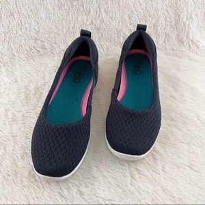 Ryka Cheri Navy Knit Flat